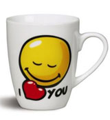 "Taza ""I Love YOU"" Smiley World"