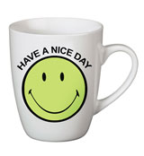 "Taza Nici Smiley ""Have a nice day"" Verde"